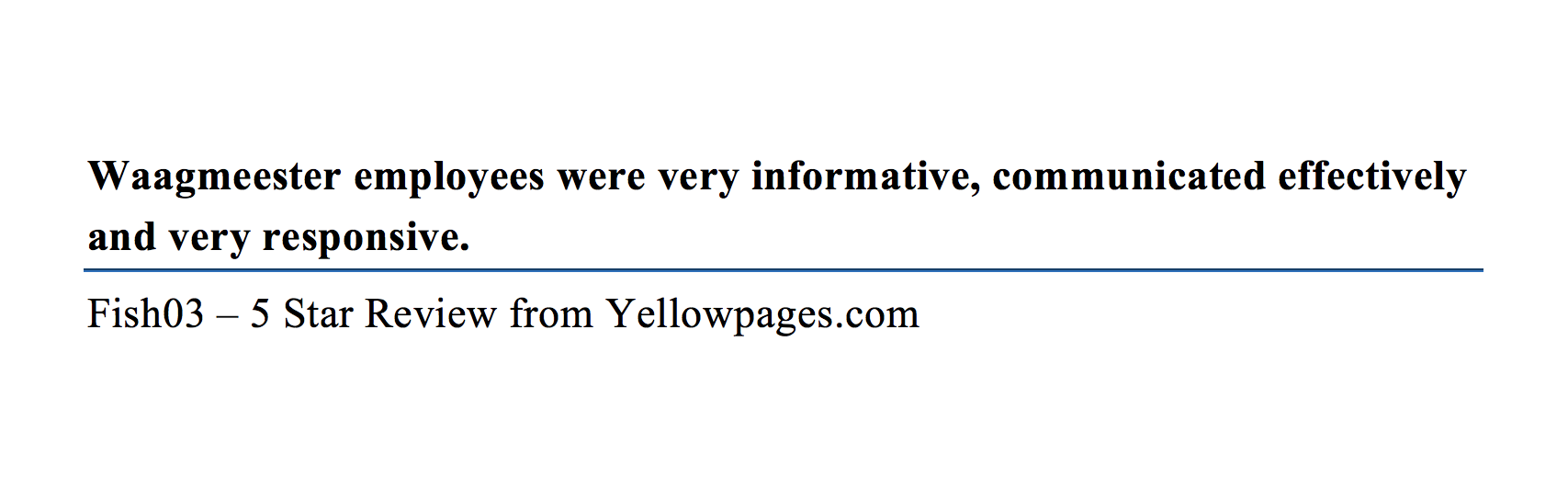 Yellow Pages 5 Star Review